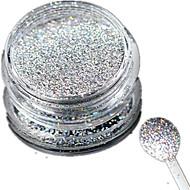Nail Jewelry / Glitter & Powder-Muuta-Häät-Sormi / Varvas-2.6*2.6cm-1 bottle