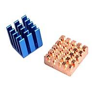 Kobber Aluminium Køling Varmeveksler For Raspberry Pi B + & Raspberry Pi 2 Rpi Sæt Af 2 Køleplader