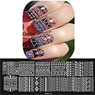 1pcs 12*6CM Nail Art Stamping Plate Beautiful Flower Colorful Image Design Nail Tools Les Cool01-10