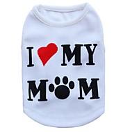 猫用品 / 犬用品 Tシャツ ホワイト 犬用ウェア 夏 花/植物 ファッション