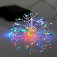 1PC LED  BatteryHome Christmas Outdoors Decorate 2M 20Dip Copper Wire String Lights