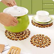 Pyöreä Neliö Yhtenäinen Placemats Coasters , Bambu materiaali