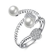 Pierścionki Sexy / Modny Ślub / Impreza / Codzienny / Casual Biżuteria Srebro standardowe Damskie Duże pierścionki 1szt,Regulacja Srebrne