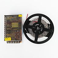 zdm® 5m 100w 600 * 7020 SMD LED destacar branco frio flexível levou luz e AC100-240V para DC12v transformador 8.5a