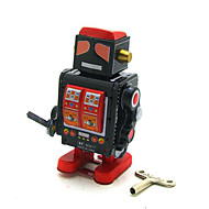 Novelty Toy  Puzzle Toy   Wind-up Toy Novelty Toy  Square  Warrior  Robot Metal Black For Kids