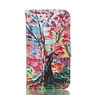 For Samsung Galaxy etui Kortholder Pung Med stativ Flip Etui Heldækkende Etui Træ Blødt Kunstlæder for Samsung Grand Prime Core Prime
