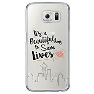 For Samsung Galaxy S7 Edge Ultratyndt Gennemsigtig Etui Bagcover Etui Ord / sætning Blødt TPU for SamsungS7 edge S7 S6 edge plus S6 edge