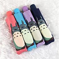 블랙 / 블루 / 핑크 / 퍼플 접는 우산 써니와 비오는 고무 레이디 / 남성
