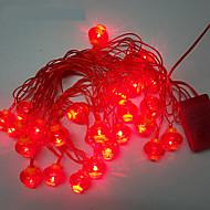 10m 24LED punainen lyhty string valot
