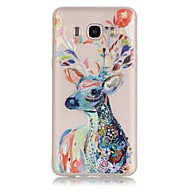 Deer TPU Material Glow in the Dark Soft Phone Case for Samsung Galaxy J110/J310/J510/J710/G360/G530/I9060