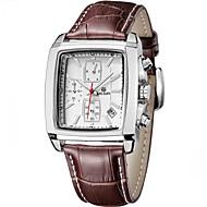 Masculino Relógio de Pulso Quartzo Japonês Calendário / Cronógrafo / Impermeável Couro Banda Preta / Marrom marca- MEGIR
