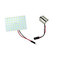 2 x fehér 48-SMD panel dóm térképen belső rv LED-izzók + BA15s 1156 adapter