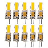 10PCS G4 1505 COB 400-500LM Warm White/Cool White/Natural White Decorative / Waterproof LED Bi-pin Lights