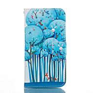 Mert Samsung Galaxy tok Kártyatartó / Állvánnyal / Flip / Minta Case Teljes védelem Case Fa Puha Műbőr SamsungS7 edge / S7 / S6 edge plus