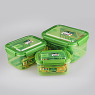 3 pcs Set Rectangular Plastic Food Containers Plastic Boxes