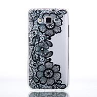 Für Samsung Galaxy Hülle Transparent Hülle Rückseitenabdeckung Hülle Blume Weich TPU SamsungJ7 / J5 (2016) / J5 / J3 (2016) / Grand Prime