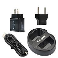 USBアダプタのプラグパワーでkingmaキヤノンLP-E6バッテリー用デュアルUSB充電器とキヤノンがEOS 5D2 5D3 70D 6D 7Dの7D2 60D