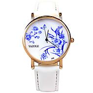 YAZOLE Dame ' Modni sat Ručni satovi s mehanizmom za navijanje Kvarc / PU Grupa Cool Neformalno Crna Bijela Crvena Obala Crn Crvena