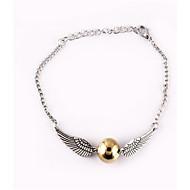 Golden Snitch Wings Bracelet Pearl Chain Bracelet Adjustable