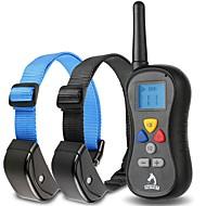 Cani collare / Collari di addestramento per cani Antiabbaio / Impermeabili / Vibrazione / LCD / 300M / Telecomando Tinta unita Nero