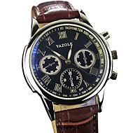 YAZOLE Muškarci Ručni satovi s mehanizmom za navijanje Kvarc / PU Grupa Neformalno Cool Crna Smeđa Crn Braon
