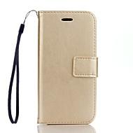 Full Body Wallet / Korttipaikka / telineellä Yhtenäinen väri Tekonahka Kova Tapauksessa kattaa Apple iPhone 7 Plus / iPhone 7