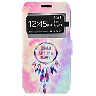 For Samsung Galaxy etui Kortholder Med stativ Etui Heldækkende Etui Drømmefanger Hårdt Kunstlæder for Samsung J7 J5 J3 J3 (2016)