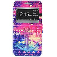 Na Samsung Galaxy Etui Etui na karty / Z podpórką Kılıf Futerał Kılıf Kotwica Twarde Skóra PU Samsung J7 / J5 / J3 (2016) / J3