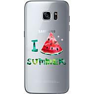 Varten Samsung Galaxy S7 Edge Kuvio Etui Takakuori Etui Hedelmä Pehmeä TPU Samsung S7 edge / S7 / S6 edge plus / S6 edge / S6