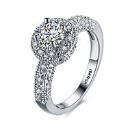 Δαχτυλίδια για τη Μέση του Δαχτύλου Βέρες Εντυπωσιακά Δαχτυλίδια Πετράδι Ασήμι Στερλίνας Ζιρκονίτης Cubic Zirconia απομίμηση διαμαντιών