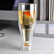 dobbelt glas øl krus 500ml omvendt kop brugerdefinerede fabrikanter støtte