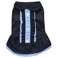 猫用品 / 犬用品 ドレス イエロー / ブルー / ピンク / シアン 犬用ウェア 夏 格子柄 ファッション