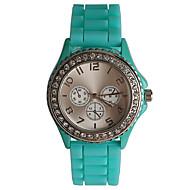 Γυναικεία Μοδάτο Ρολόι Καθημερινό Ρολόι Προσομοίωσης Ρόμβος Ρολόι Χαλαζίας / απομίμηση διαμαντιών σιλικόνη Μπάντα Καθημερινά Πράσινο