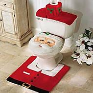 laatu flanelli laudeliina& matto jalka pad vesisäiliön asettaa pyyhe kansi kylpyhuone se joulupukki joulukoristeen