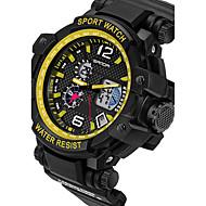 Herr Par Sportsklocka Militärklocka Smart klocka Modeklocka Armbandsur Digital Japansk kvartsurLED Kronograf Vattenavvisande Dubbel