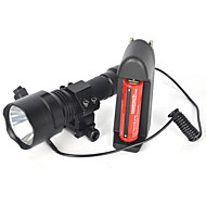 5000LM XML T6 LED Linterna Lamp Linterna Montura Rifle 18650 Full set Of Battery Charger
