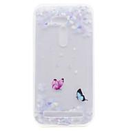 For asus zb551kl zb452kg sommerfugl blomstermønster høj permeabilitet tpu materiale telefon shell