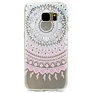 Mert Minta Case Hátlap Case Csipke dizájn Puha TPU Samsung S7 edge / S7 / S5 Mini / S5