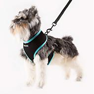Kediler / Köpekler Koşum Takımı Ayarlanabilir/İçeri Çekilebilir / Nefes Alabilir Tek Renk Yeşil / Mavi / Turuncu / GülÖrümcek Ağı /