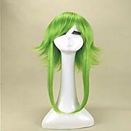 Naisten Synteettiset peruukit Suojuksettomat Keskikokoinen Suora Vaaleahiuksisuus Sininen Vihreä Cosplay-peruukki Halloween Peruukki