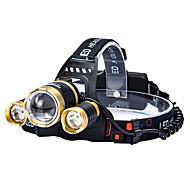 Beleuchtung LED Taschenlampen LED 4800 lumens Lumen 4.0 Modus Cree T6 18650einstellbarer Fokus / Wasserdicht / Wiederaufladbar / Stoßfest