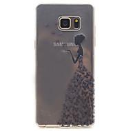 For samsung galaxy note 5 wzór piękna przepuszczalność wysokiej tpu materiał obudowa telefonu