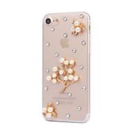 DIY Pearl Flower Pattern PC Hard Case for iPhone 7 7 Plus 6s 6 Plus SE 5s 5 4s 4