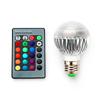5W E14 / B22 / E26/E27 Bombillas LED Inteligentes G60 1 SMD 5050 680 lm RGB Regulable / Control Remoto / Decorativa V 1 pieza