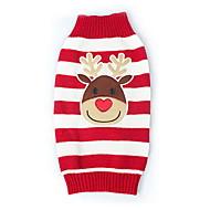 猫用品 犬用品 セーター レッド 犬用ウェア 冬 春/秋 トナカイ キュート クリスマス