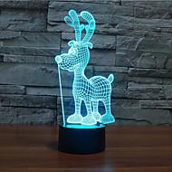 Рождественский олень дотрагивайтесь затемнением 3D LED ночь свет 7colorful украшения атмосфера новизны светильника освещения свет