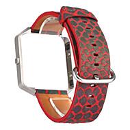 אדום / כחול / אפור עור רצועת ספורט ל פיטביט שעון 23mm