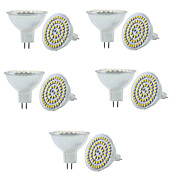 10PCS MR16 60SMD 3528 550-600LM DC12V Warm White/White Dimmable/Decorative LED Spotlight