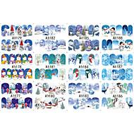 12 designs ,12 different images Nail Art Samoprzylepna Folie transferowe Woda Kosmetyki do makijażu Nail Art Design