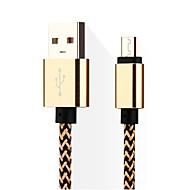 Micro-USB 3.0 Entrançado Cabo Para Samsung / Huawei / Sony / Nokia / HTC / Motorola / LG / Lenovo / Xiaomi 14*5*1 cm Náilon